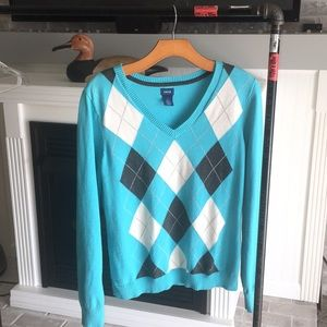 Izod sz L argyle sweater